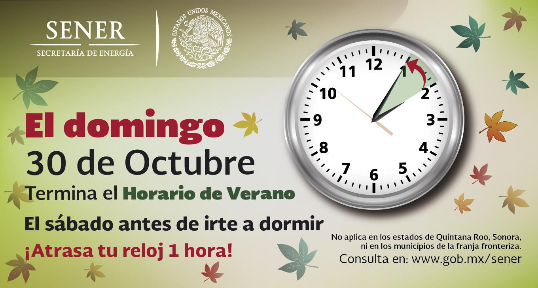 México El 30 De Octubre Termina Horario De Verano Dejando Positivo