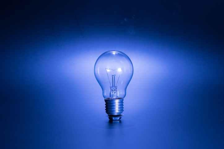 bright bulb clear dark