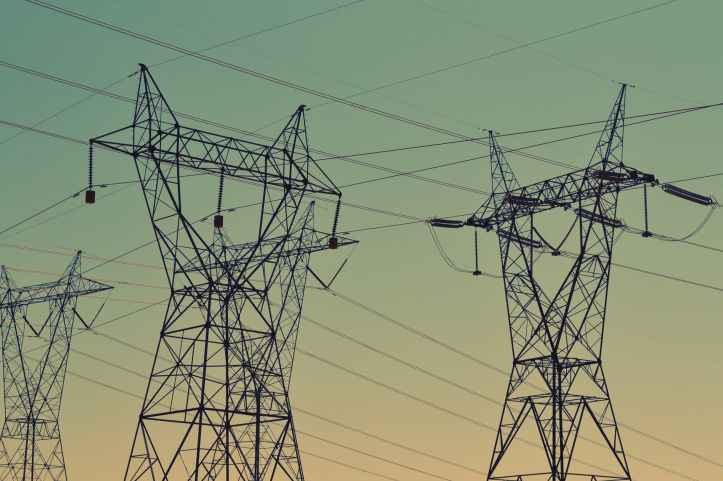 electricity energy high voltage power lines