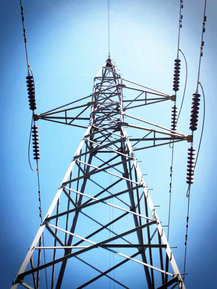 blue cables danger electricity