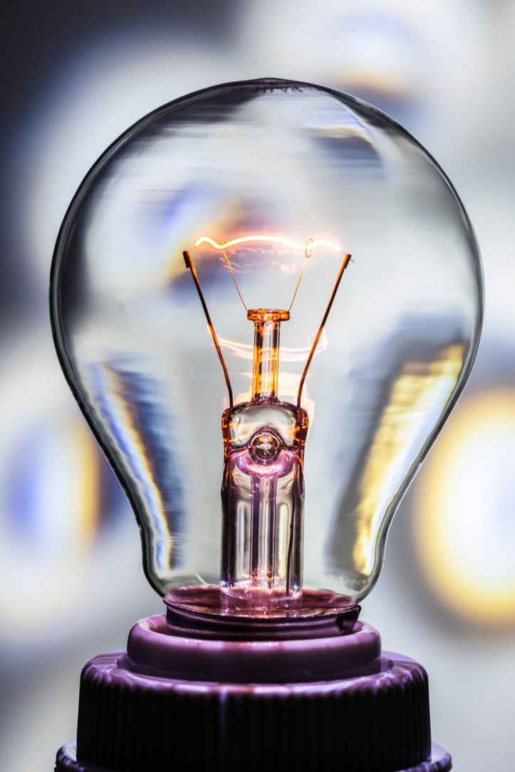light glass lamp idea