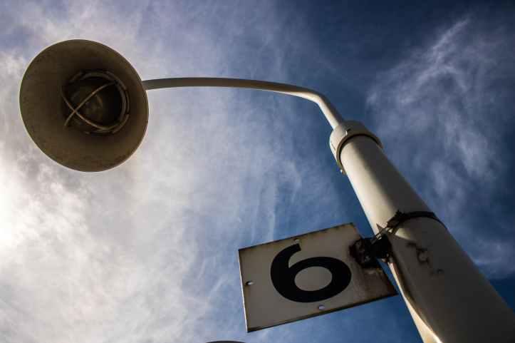 white post lamp