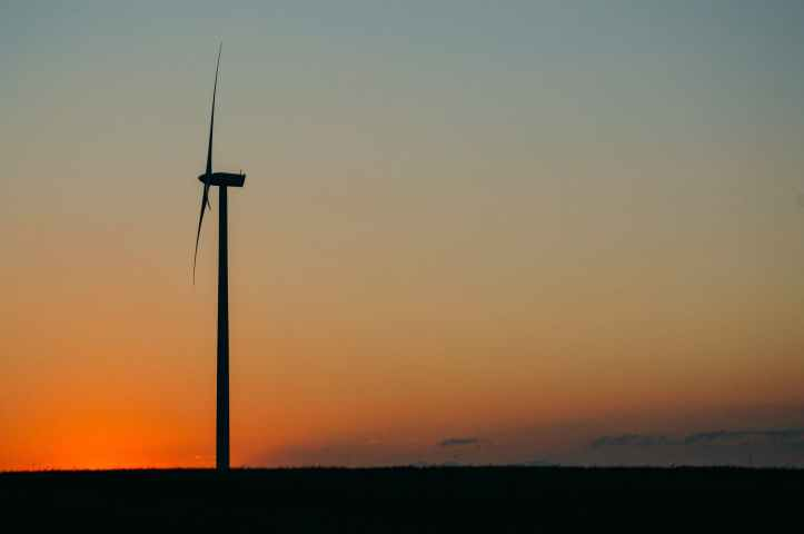 sunset wind wind farm clean energy