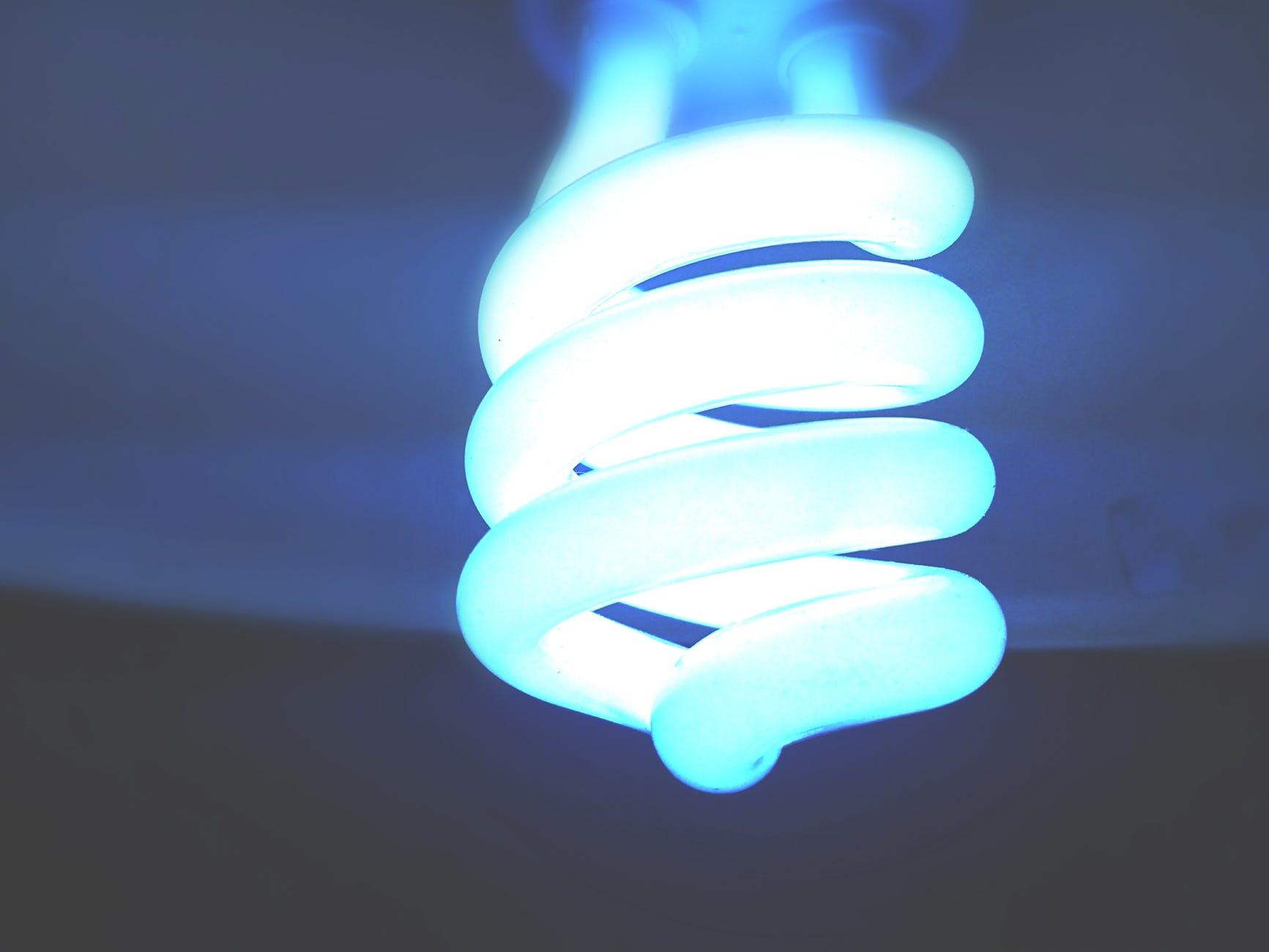 abstract blur bright bulb