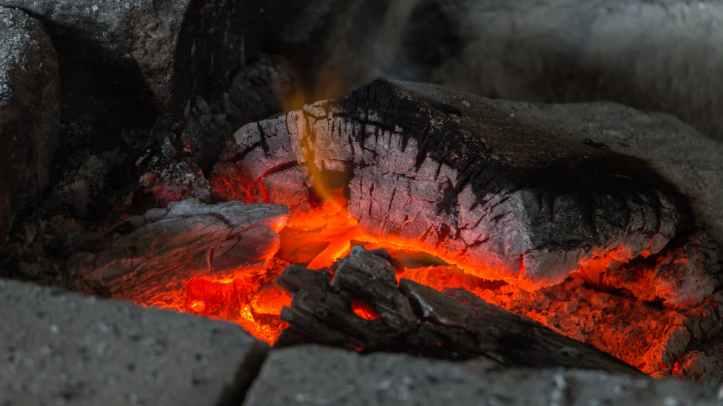 amber ash blaze burn