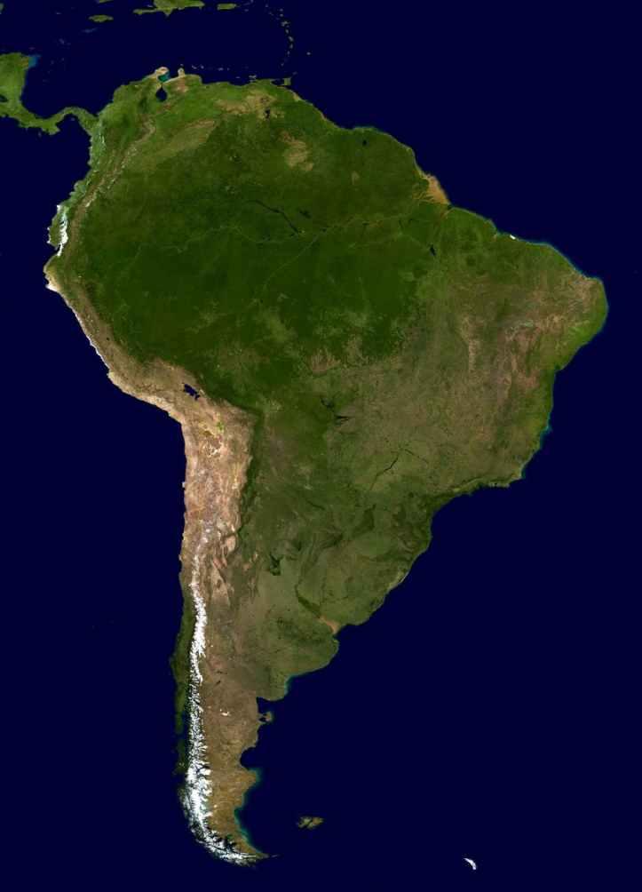 america map land brazil