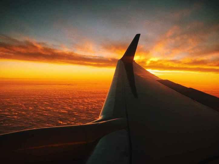 clouds flight flying plane