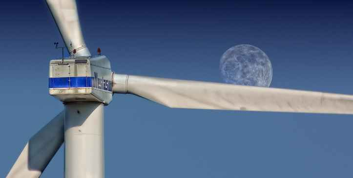 sky moon pinwheel wind power