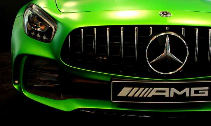 green mercedes benz amg