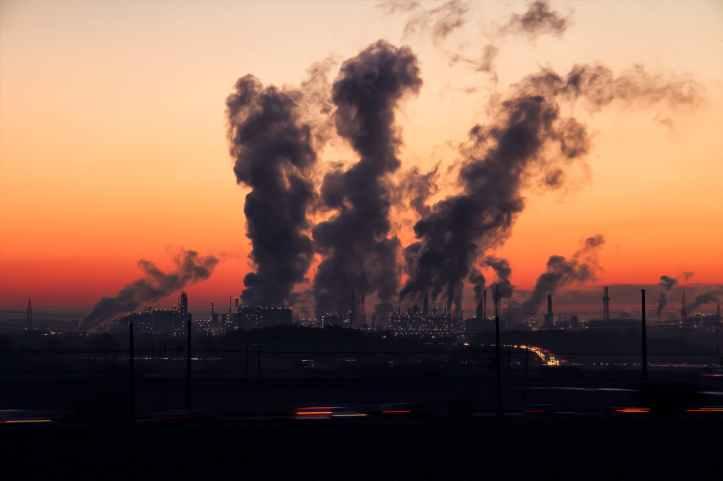 air air pollution chimney city