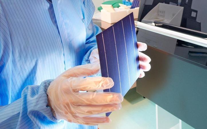 Celda solar que compone un módulo fotovoltaica