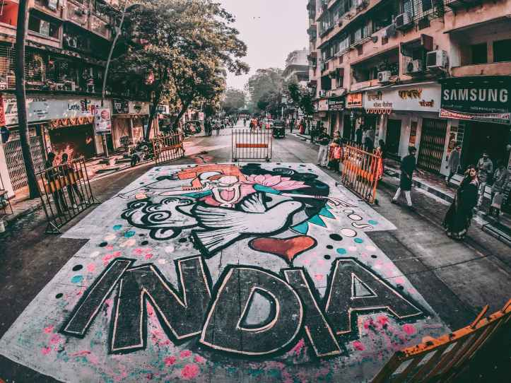 india graffiti street art